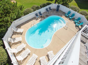 The pool at SEA ESCAPE