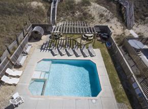The pool at GOOD KARMA RETREAT