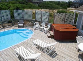 The pool at SUNRISE VILLA