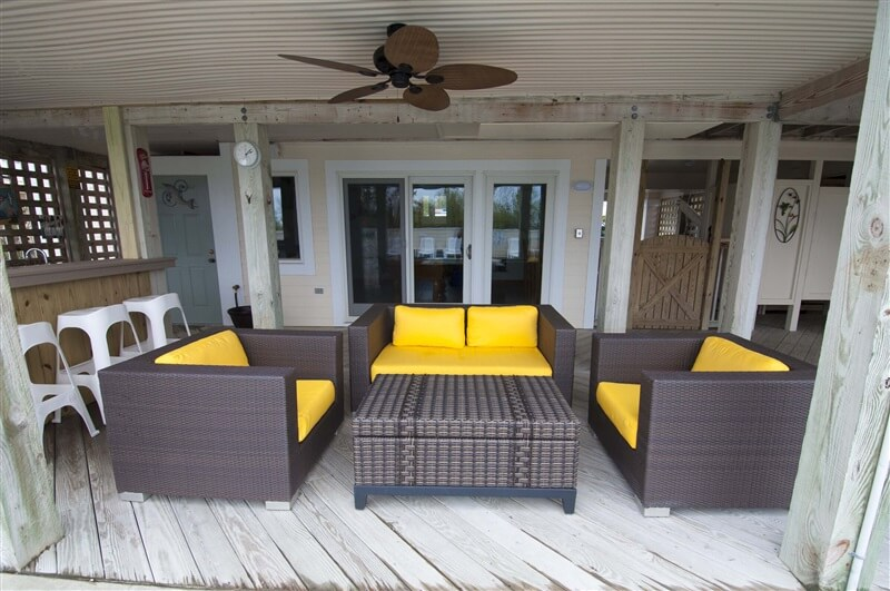WESTOVER SUNSETS Poolside Seating Area