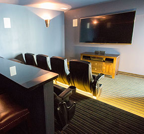... State Of The Art Media And Electronics, Surround Sound, And Tiered  Seating In Overstuffed Chairs, These Private Home Theaters Offer A Unique  Theater ...